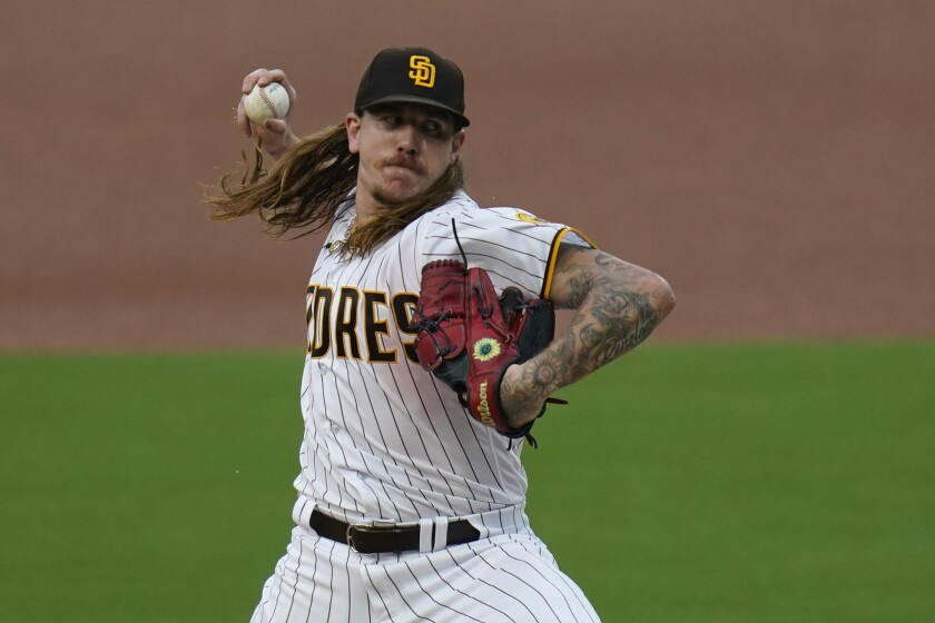 San Diego Padres starting pitcher Mike Clevinger