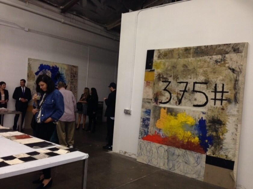 """Oscar Murillo's """"Distribution Center"""" opens at the new Mistake Room."""