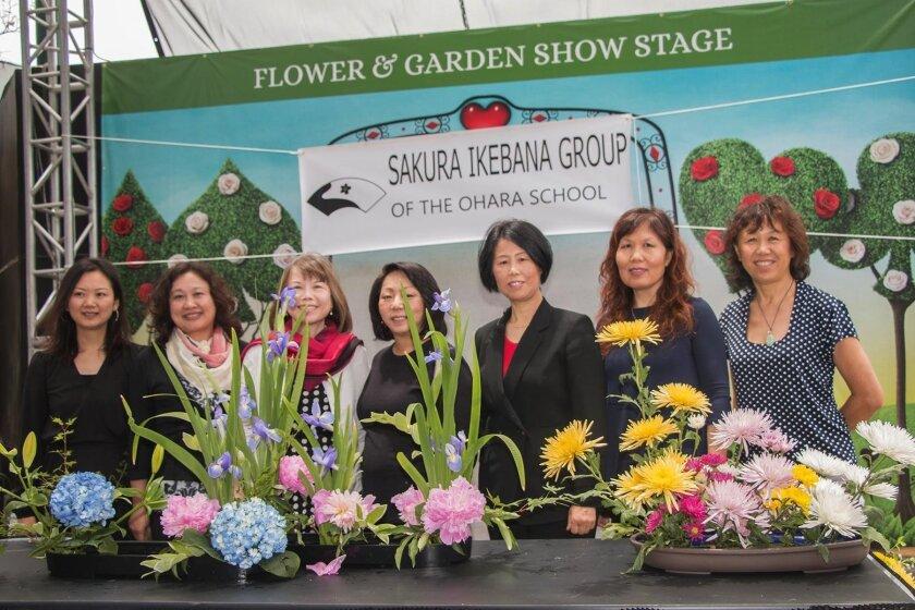 The Ikebana team: Kiki Zhong, Ping Wang, Kim Minakoshi, Mary Rawlings, Jackie Zhang, Tracy Guo, Vivian Ho