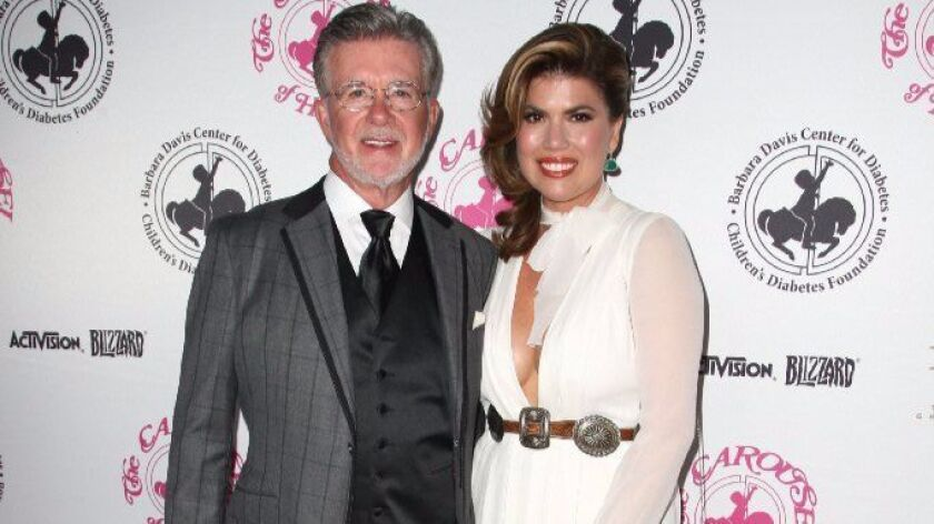 Alan Thicke and his wife, Tanya Callau Thicke, are shown in October at the Carousel of Hope Ball in Beverly Hills.