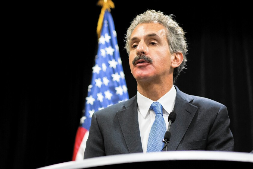 Los Angeles City Atty. Mike Feuer issued a warning about immigration scams, saying that if an offer seems too good to be true, it probably is.