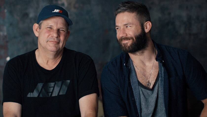 "Frank Edelman, left, and Julian Edelman in ""100% Julian Edelman"" on Showtime."