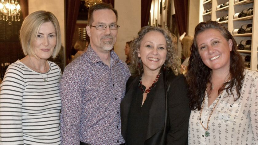 Eva Sippel, from left, Russell Freesland, Trena Pitchford and Gina Boulanger were among those who ma