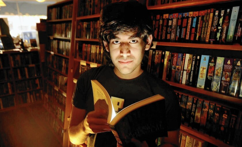 """A scene from the doucmentary """"The Internet's Own Boy: The Story of Aaron Swartz."""""""