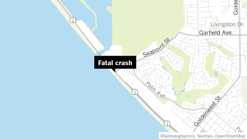 A homeless man riding a bicycle on Pacific Coast Highway near Seapoint Street in Huntington Beach was struck and killed by a vehicle Friday night.