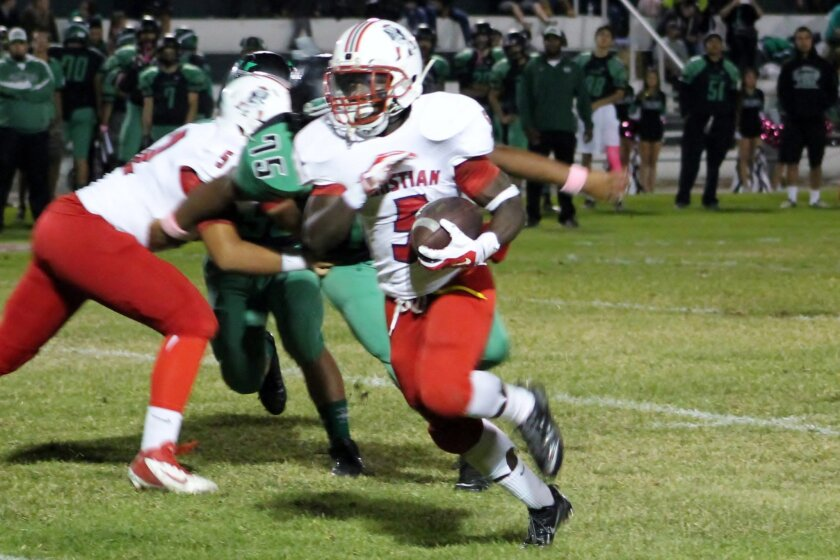 Christian junior running back Adrian Petty is averaging 13.4 yards a carry for the No. 9-ranked Patriots, who will play University City on Friday night with the Central League championship at stake.