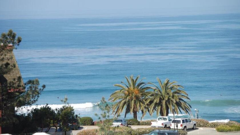 A view of the ocean in Del Mar.