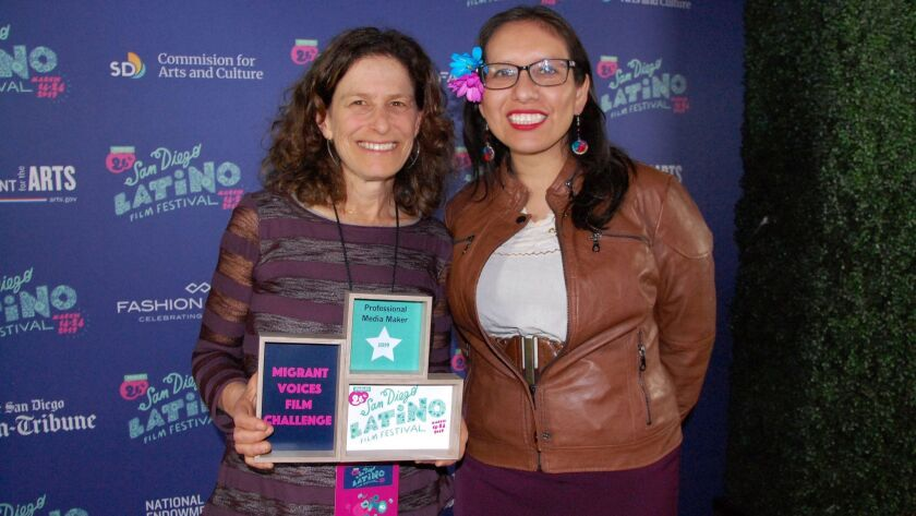 Mo Morris and Dulce Garcia at the San Diego Latino Film Festival on March 19, 2019.