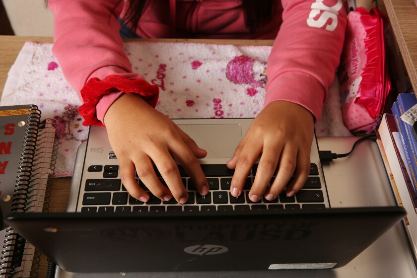 A  survey of  public school teachers showed their  dim view of distance learning