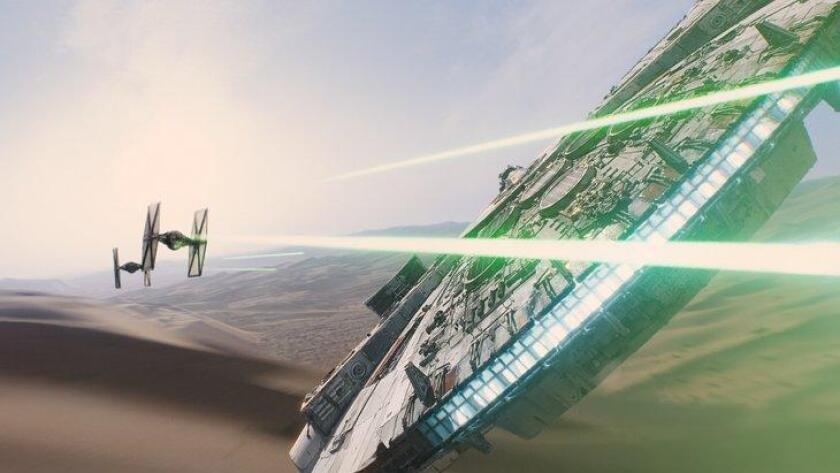 """In this image released by Disney, a scene is shown from the upcoming film, """"Star Wars: The Force Awakens,"""" expected in theaters on Dec. 18, 2015. (AP Photo/LucasFilm, Disney) (/ The Associated Press)"""