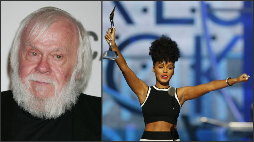 John Baldessari in 2008, and Janelle Monáe in 2015.
