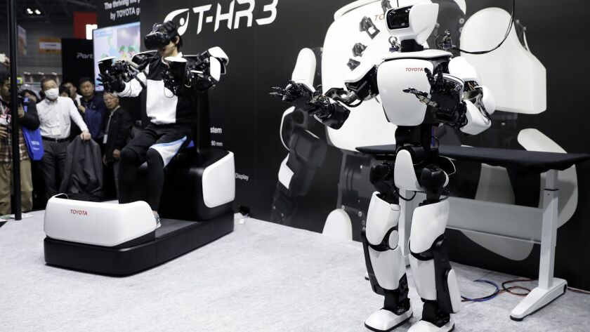 Inside The International Robot Exhibition