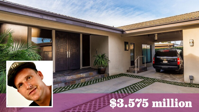 """Ridiculousness"" host Rob Dyrdek has sold his home in Hollywood Hills West for $3.575 million."