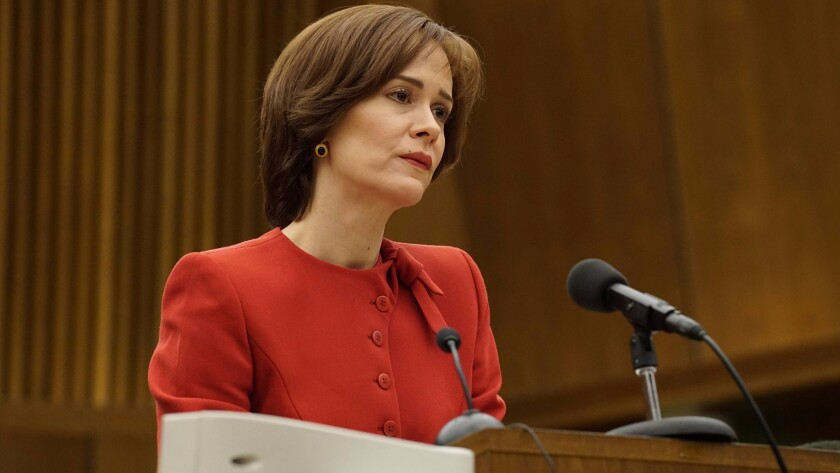 """Sarah Paulson in """"The People v. O.J. Simpson."""""""