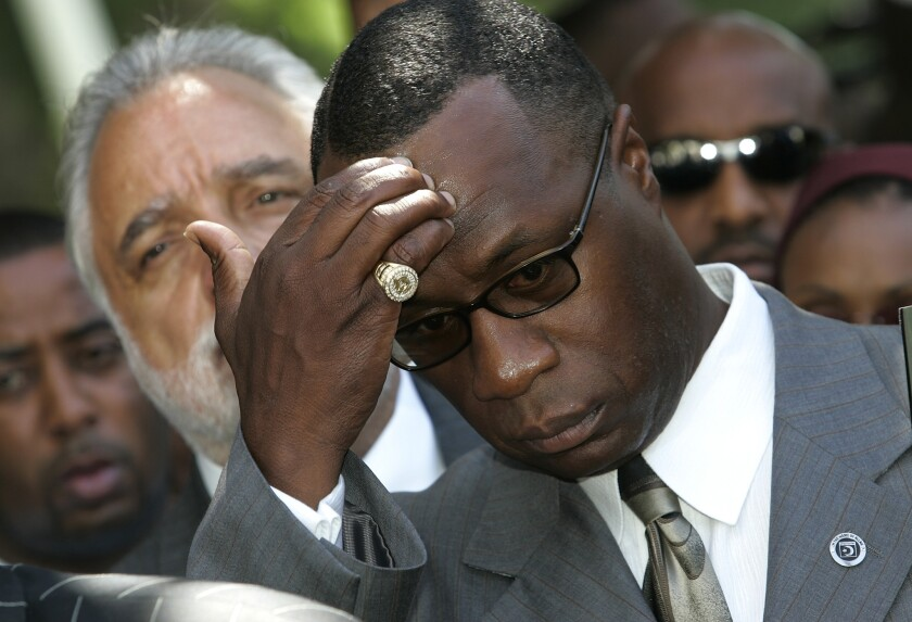 Nation of Islam Minister Tony Muhammad, shown in 2005, likened California's proposed vaccination mandate to the Tuskegee Syphilis Study, in which federal researchers, starting in the 1930s, withheld treatment from African American men.