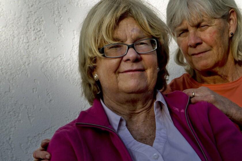 Colleen Kegg, left, with her sister, Karen Kegg, in Goleta