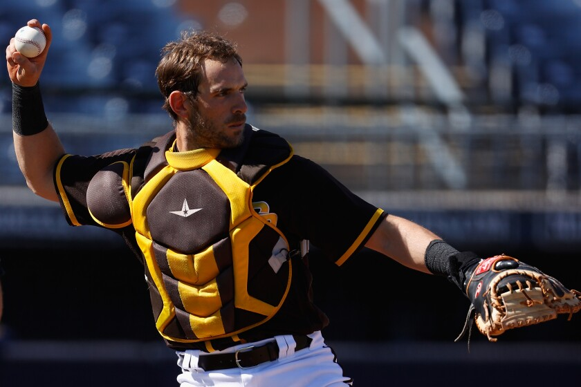 Padres catcher Austin Nola