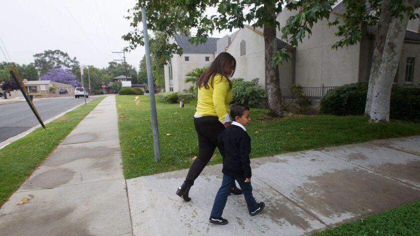 CHULA VISTA, CA., May 24, 2017,- Clariza Marin dropped her kindergartener son Freddie off at Saint J