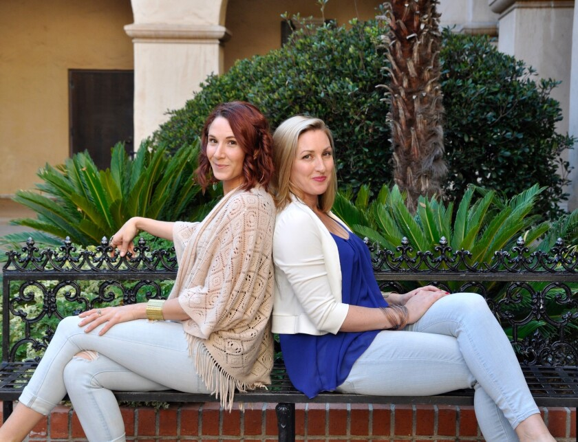 The founders of KB Pure Essentials, Brooke Brun (left) and Katie Moodie.