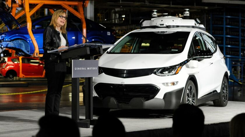 General Motors Chairman and CEO Mary Barra speaks June 13, 2017, at GM's Orion Assembly in Lake Orion, Mich.