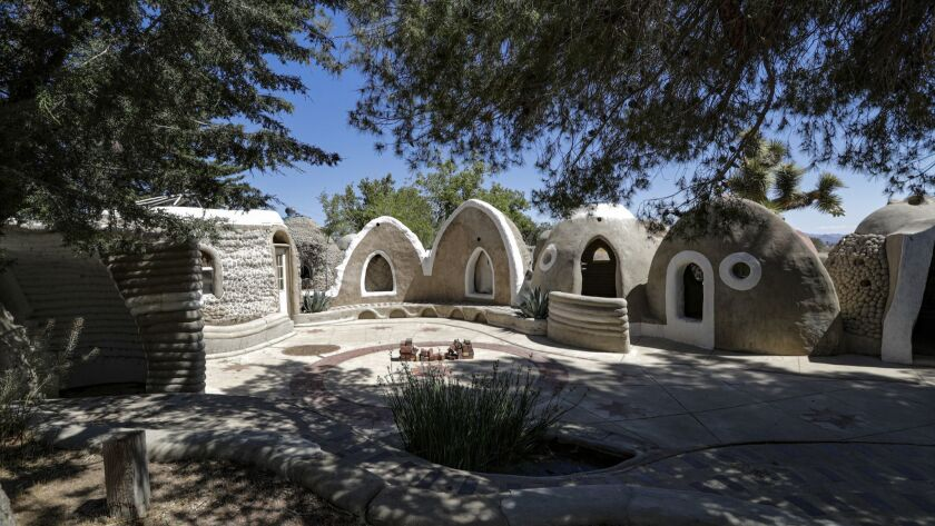 The CalEarth campus in Hesperia explores the potential for building low-cost shelter using dirt as a primary material.