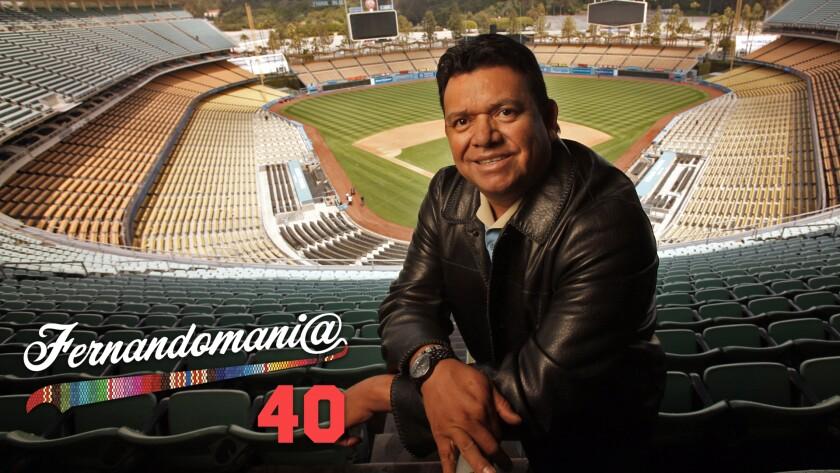 Fernando Valenzuela poses at an empty Dodger Stadium