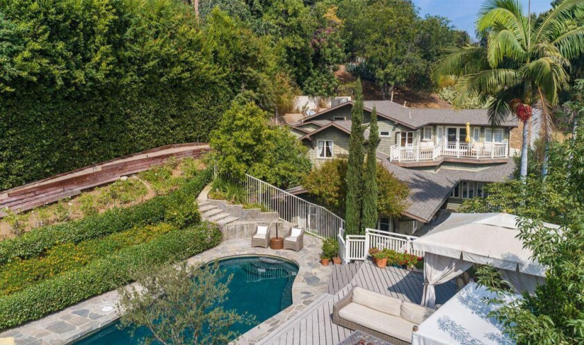 Craig Ferguson's gated Hollywood Hills estate holds a 116-year-old Craftsman house, two guesthouses and a swimming pool.