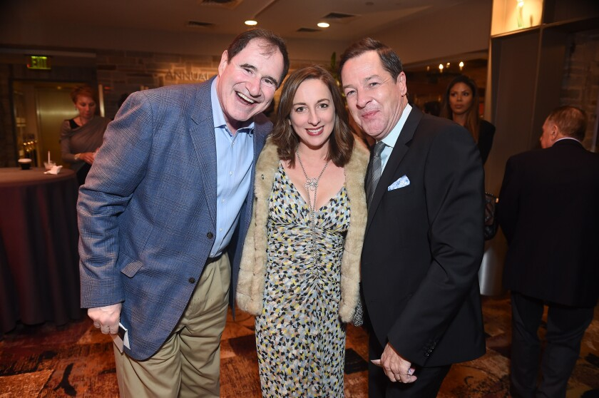 """Richard Kind, left, Vanessa Claire Stewart and French Stewart at the opening-night party for """"Key Largo."""""""