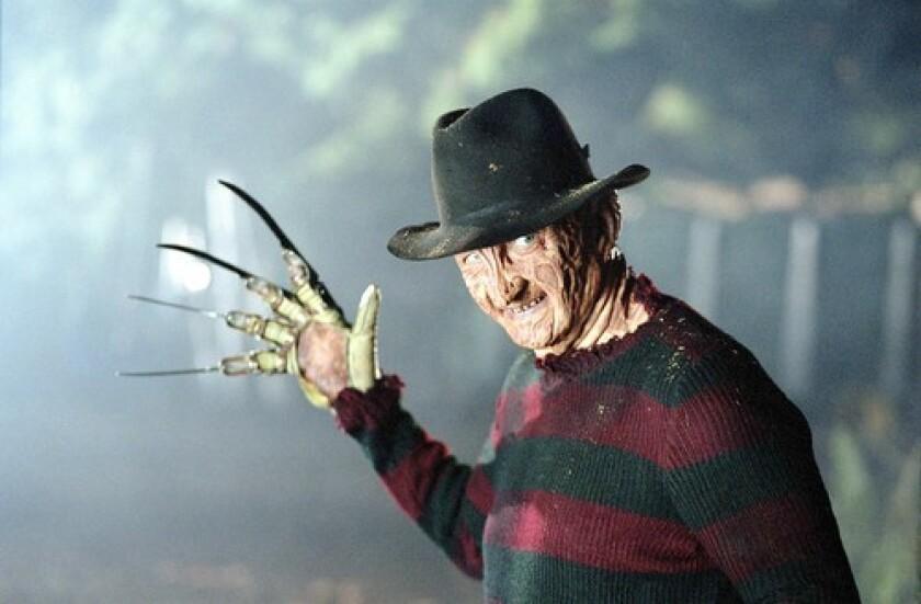 "Robert Englund as Freddy Krueger in a scene from the ""Nightmare on Elm Street"" franchise."