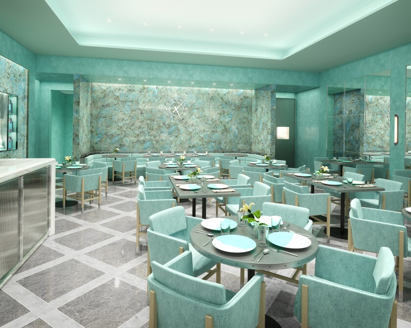 A rendering of the Tiffany & Co. store's Blue Box Cafe in South Coast Plaza.