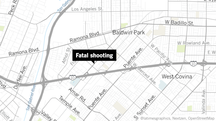 A shooting in Baldwin Park killed one man and injured another Saturday evening.