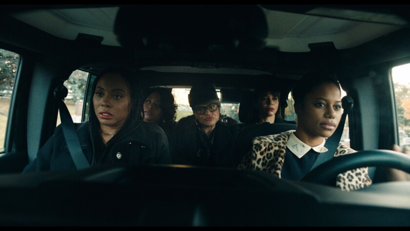 """From left, Erica Ash, Sherri Shepherd, Michelle Hurst, Gloria Reuben and Taylour Paige in """"Jean of t"""