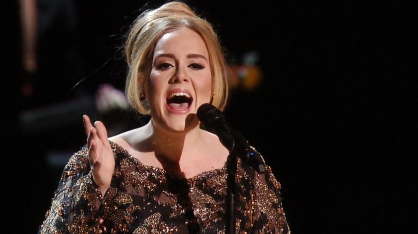 "Adele performs at Radio City Music Hall in 2015 in NBC's ""Adele Live in New York City."""