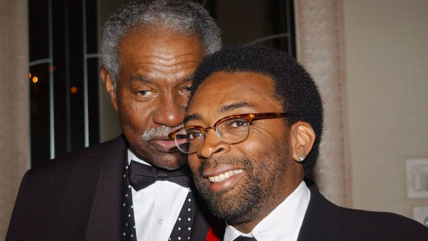 Ossie Davis and Spike Lee in 2002.