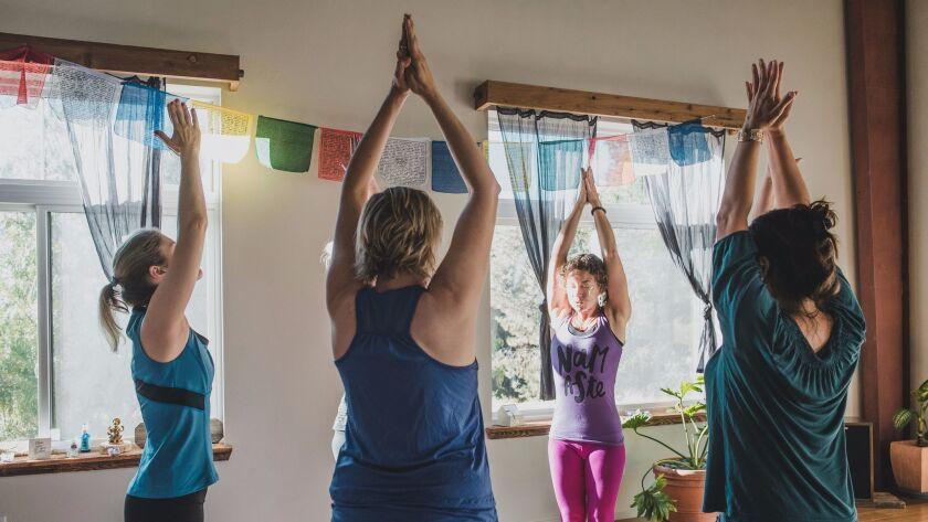 Yoga and writing workshop at Sagrada Wellness is led by Leslie St. John.