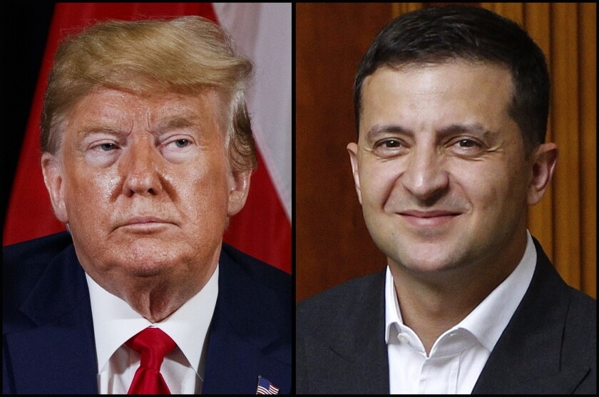 U.S. President Donald Trump and Ukrainian President Volodymyr Zelensky are at the center of fast-moving scandal.