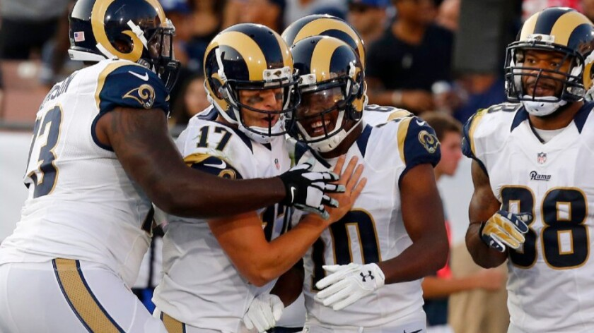 Rams quarterback Case Keenum focuses on the job at hand, not the jersey numbers in the stands