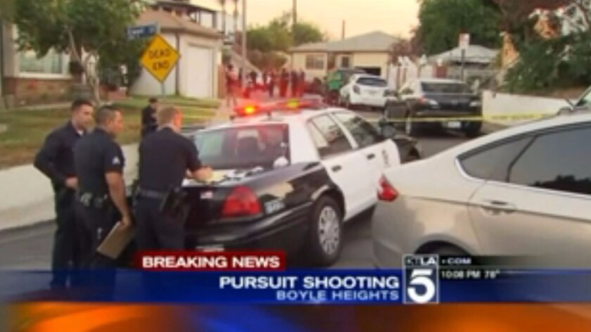 Police chase ends with officer fatally shooting armed man in