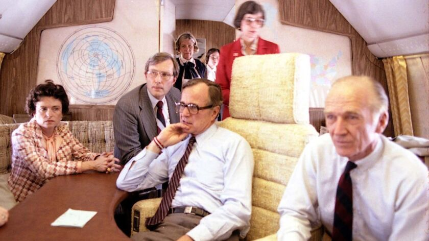 At 30,000 feet, George H W  Bush confronted the most