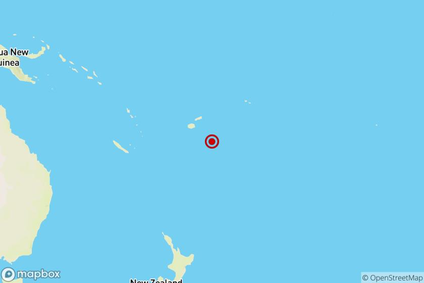 Earthquake near Ndoi Island, Fiji