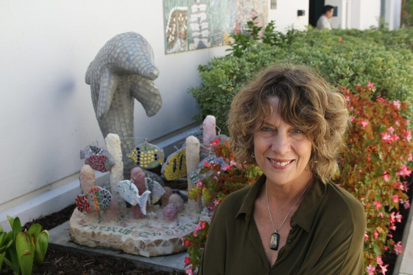 Roberta Dean, Rancho Santa Fe School District's ocean literacy specialist, was named Marine Educator of the Year. Photo by Karen Billing