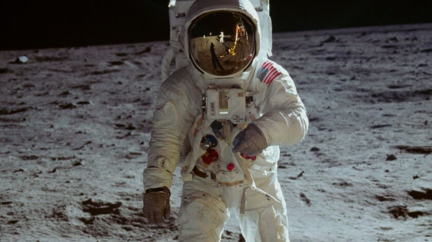 "Man on the moon, in the CNN film ""Apollo 11."""