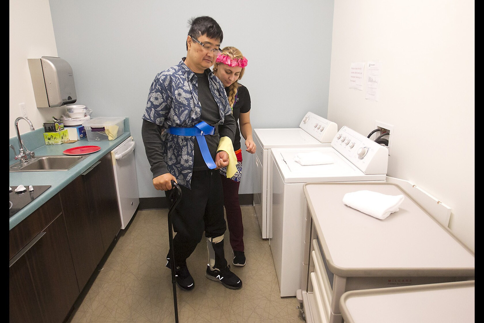 Chapman University's stroke recovery boot camp helps patients in fun