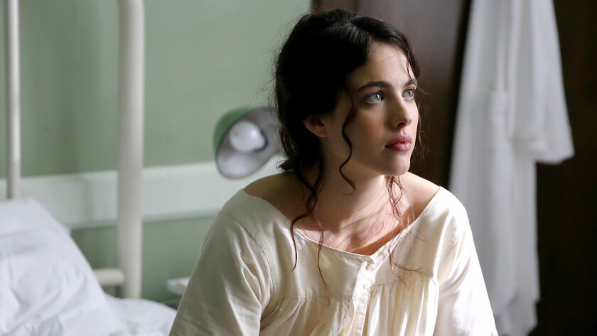 "Margaret Qualley as Sister Cathleen in a scene from the movie ""Novitiate."" Credit: Sony Pictures Cla"