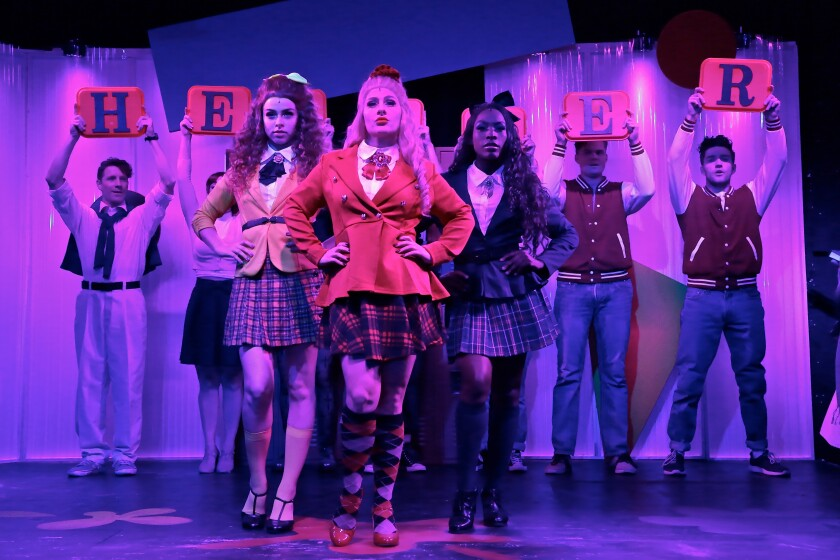 """The cast of OB Playhouse & Theatre Co.'s """"Heathers."""""""