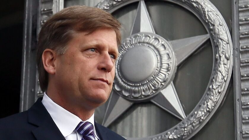 US Ambassador to Russia Michael McFaul visits Russian Foreign Ministry over spy scandal