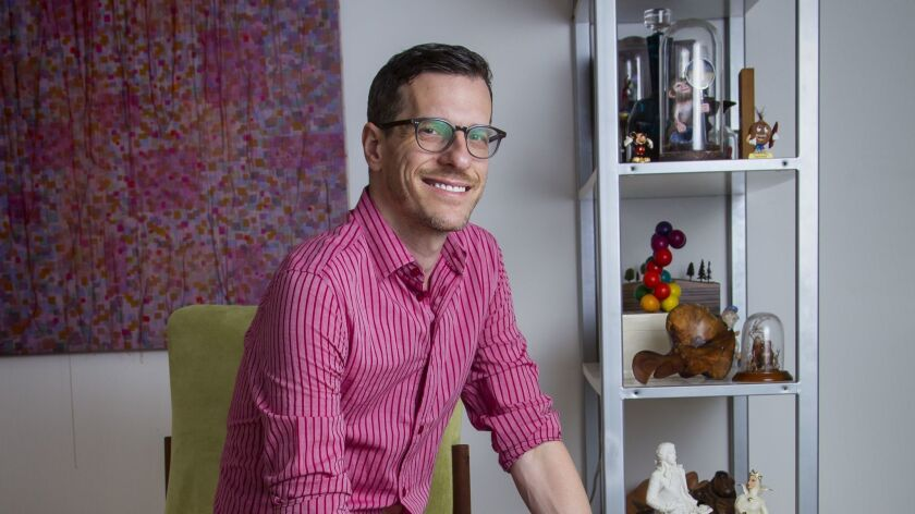 September 4th, 2015, San Diego, CALIFORNIA, USA. -------- | Author/illustrator Brian Selznick sits a