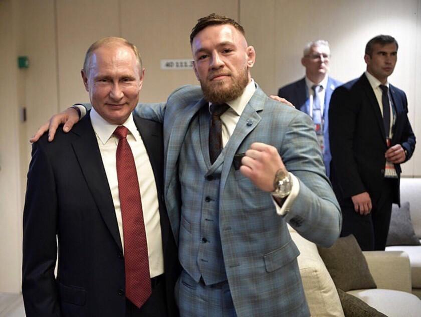 Conor McGregor acudió a la final de Rusia 2018 como INVITADO del 'gran líder' Vladimir Putin