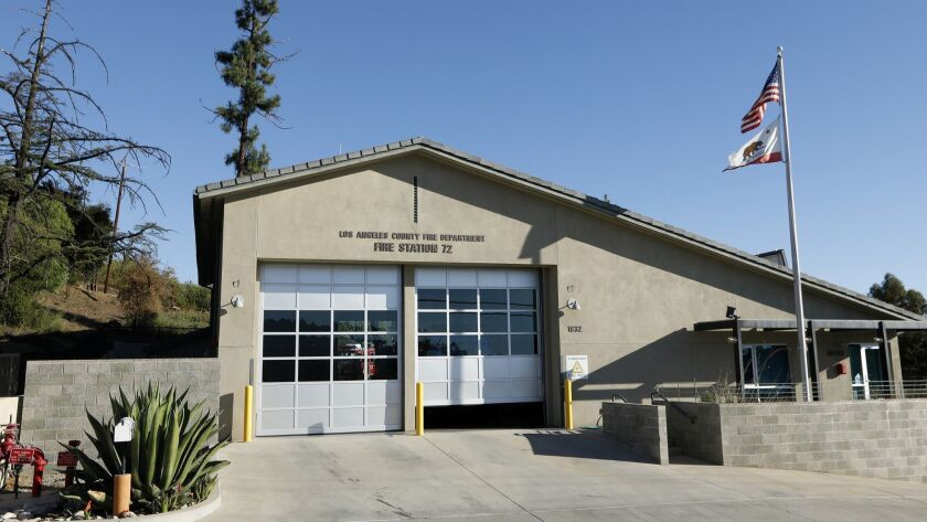 LOS ANGELES COUNTY, CALIFORNIA--OCT. 17, 2018--Fire Station 72 in a rural outpost at the western tip