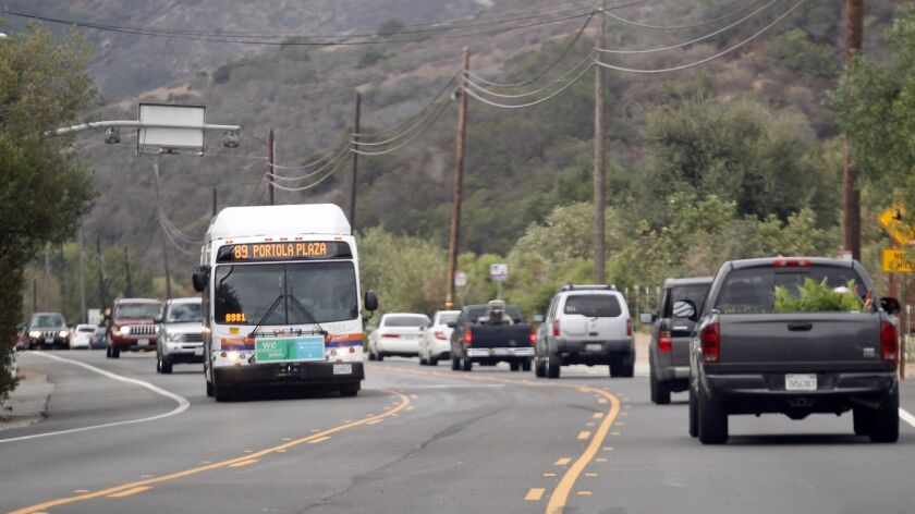 A portion of El Toro Road, which connects with Laguna Canyon Road, pictured above in 2014, will be reduced to one lane on Monday as Southern California Gas. Co. crews install meter equipment.